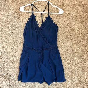 Lulumari blue lace romper